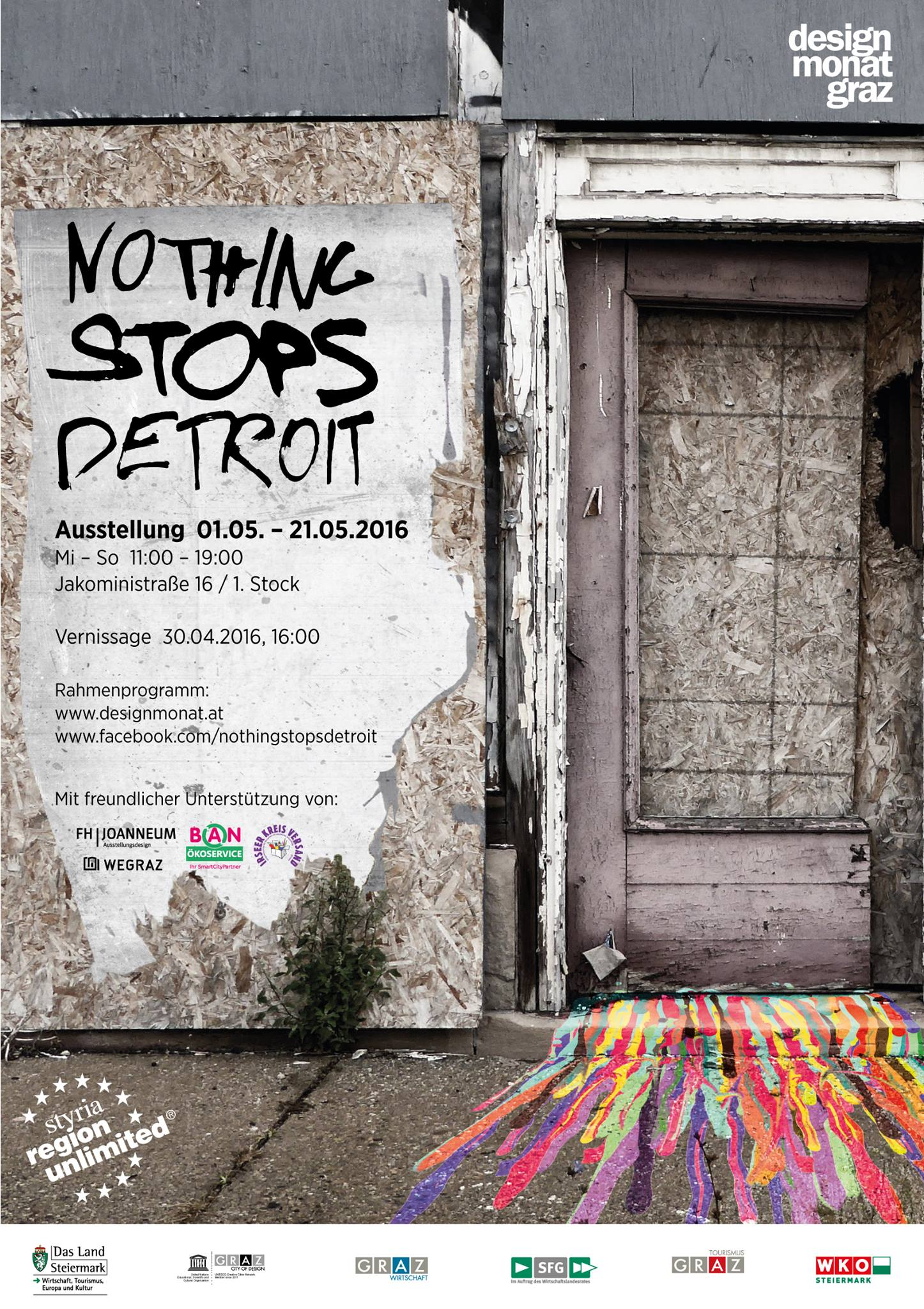nothing stops detroid plakat