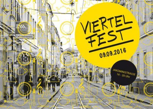 2016 Viertelfest Jakomini_Einladung