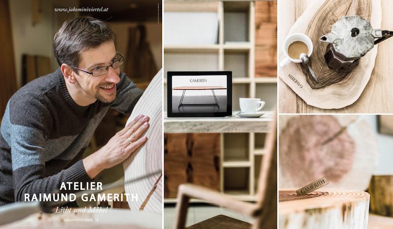Ein Blick in das wunderbare Atelier von Raimund Gamerith – Holzduft und Design mitten in der Stadt
