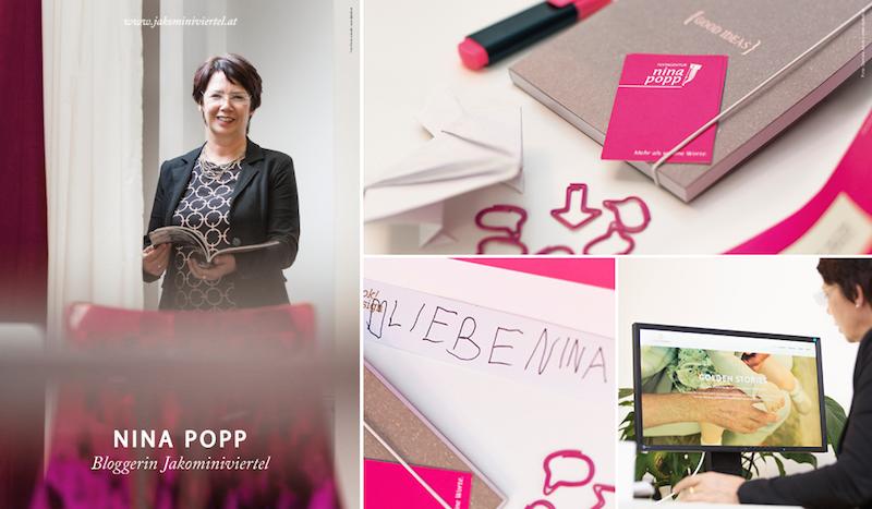 Die Texterin Nina Popp. Seit sechs Jahren Chronistin der Entwicklung im Viertel und Senior Consultant für die jungen RedakteurInnen im Jakominiviertel-Blog