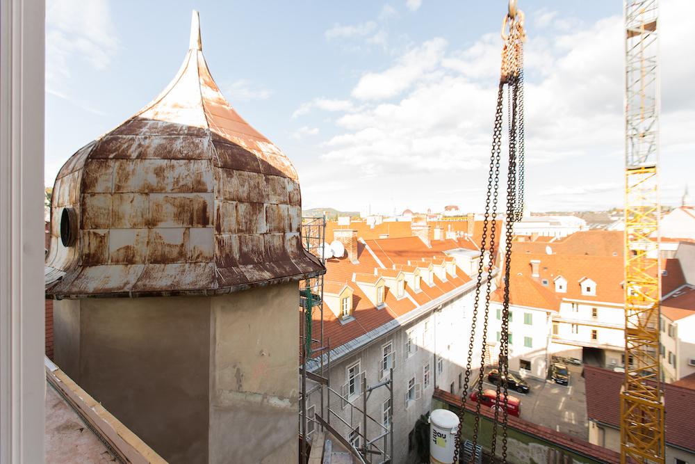 Sauna im Turm und Penthouse mit Blick auf ganz Graz