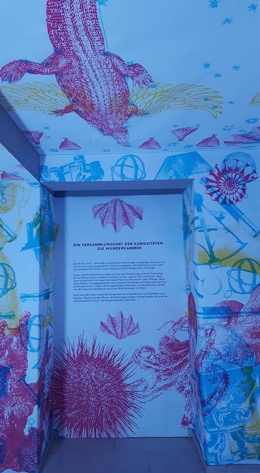Das Tierchen, das der Ausstellung den Namen gab: das Krokodil in der Dunkelkammer, das durch unterschiedliche Lichtprojektionen seine Gestalt veränderte